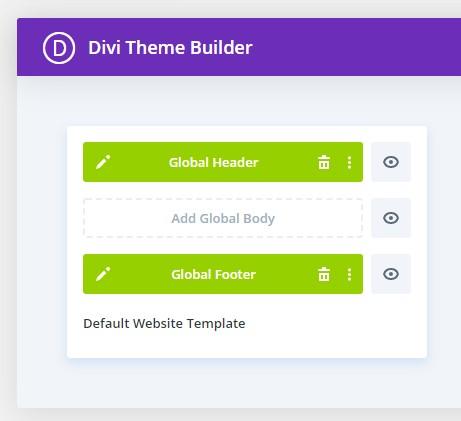 Divi theme builder - définir un modèle par défaut